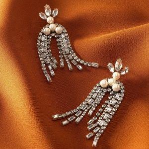 NEW Stella & Dot Crystal Waterfall Earrings